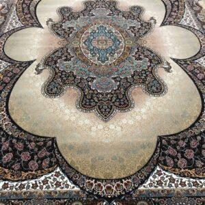 فرش طرح مهبد 12 متری بادامی